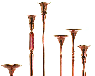 Copper Candleholder Group 5