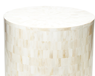 Serenity End Table/Stool in Bone