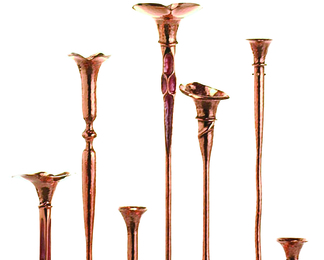 Copper Candleholders Group 7