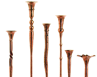 Copper Candleholders Group 6