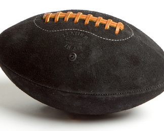 LEATHER HEAD Football - Black Suede