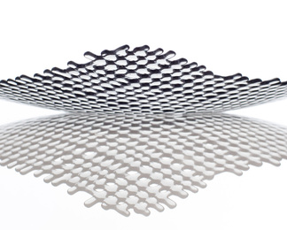 Grid Platter - Smoke and Silver