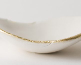 Tiny Gold Lip Dish
