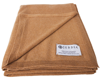 Cashmere Throw - Camel