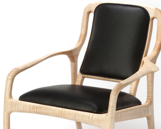 Karnali Lounge Chair in Maple