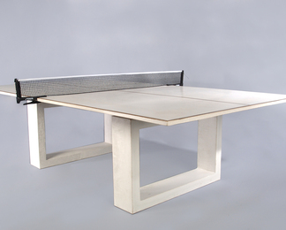 White Ping Pong Dining Table