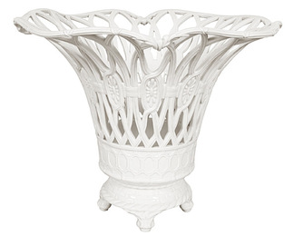 Basket, Ivory Glazed