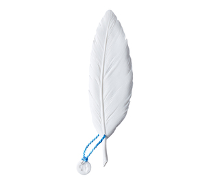 Feather - White Biscuit- Blue
