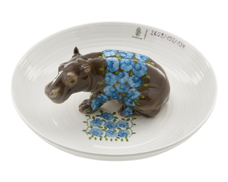 Bowl with Hippopotamos
