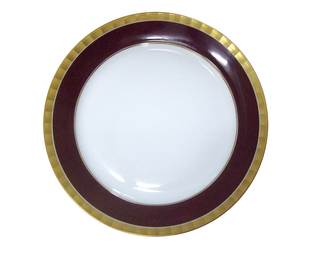 Lotos Plate - Ibis Brown Gold