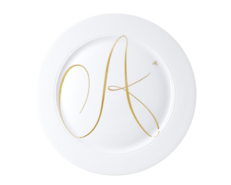 Monogram Plate with Gold A