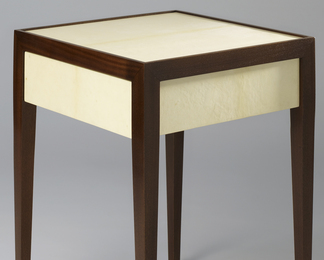 Caragh Side Table with Drawer- Parchment