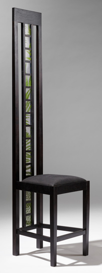 Ladderblack_chair_with_ferns_side_view_main