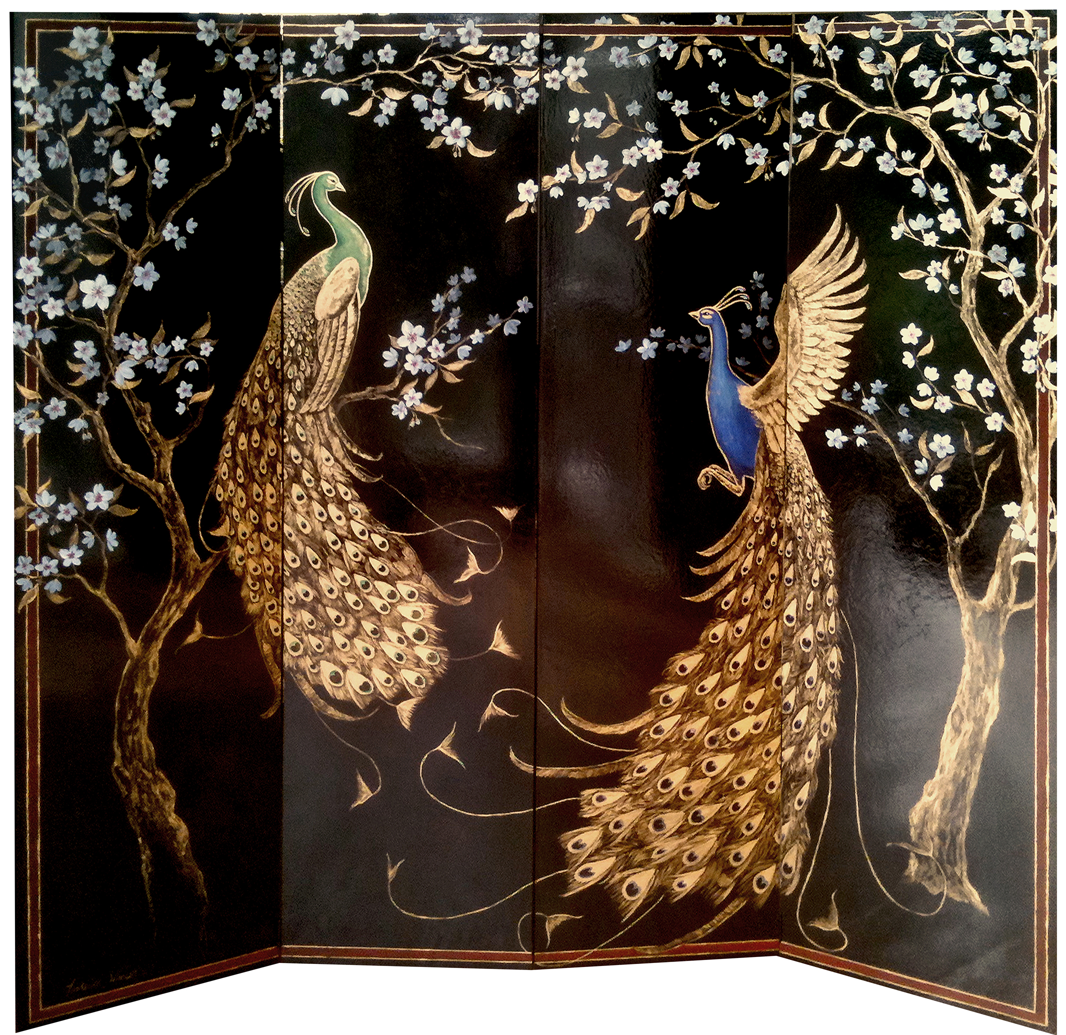 Bespoke Global Product Detail Golden Peacock Screen