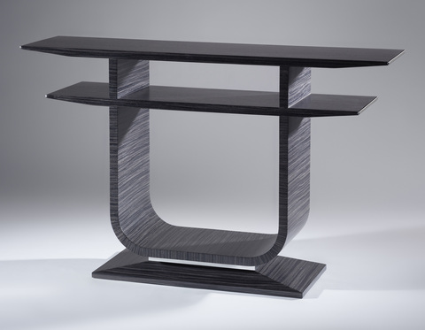Emile_console_table_in_pinstriped_timber_with_polished_aluminium_detail_main